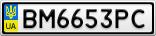 Номерной знак - BM6653PC