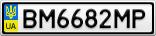 Номерной знак - BM6682MP