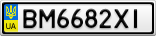 Номерной знак - BM6682XI