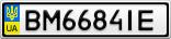 Номерной знак - BM6684IE