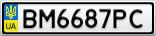 Номерной знак - BM6687PC