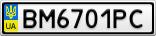 Номерной знак - BM6701PC