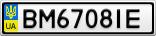 Номерной знак - BM6708IE