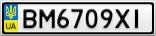 Номерной знак - BM6709XI