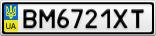 Номерной знак - BM6721XT