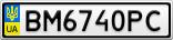 Номерной знак - BM6740PC
