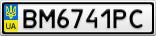 Номерной знак - BM6741PC