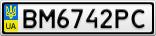 Номерной знак - BM6742PC