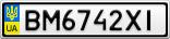 Номерной знак - BM6742XI