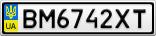 Номерной знак - BM6742XT