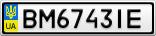 Номерной знак - BM6743IE