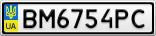 Номерной знак - BM6754PC
