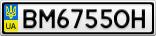 Номерной знак - BM6755OH