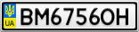 Номерной знак - BM6756OH