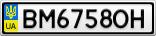 Номерной знак - BM6758OH