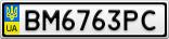Номерной знак - BM6763PC