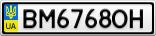 Номерной знак - BM6768OH