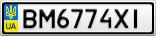 Номерной знак - BM6774XI