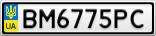 Номерной знак - BM6775PC