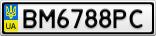 Номерной знак - BM6788PC