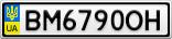 Номерной знак - BM6790OH