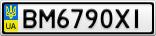 Номерной знак - BM6790XI