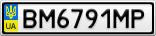 Номерной знак - BM6791MP