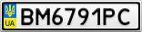 Номерной знак - BM6791PC