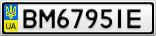Номерной знак - BM6795IE
