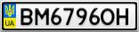 Номерной знак - BM6796OH
