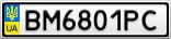 Номерной знак - BM6801PC