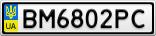 Номерной знак - BM6802PC