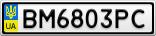 Номерной знак - BM6803PC
