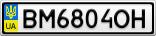 Номерной знак - BM6804OH