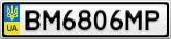 Номерной знак - BM6806MP