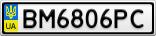 Номерной знак - BM6806PC