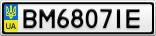 Номерной знак - BM6807IE