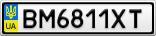 Номерной знак - BM6811XT