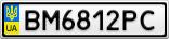 Номерной знак - BM6812PC