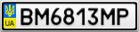 Номерной знак - BM6813MP