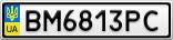 Номерной знак - BM6813PC