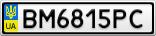 Номерной знак - BM6815PC