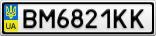 Номерной знак - BM6821KK