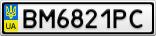 Номерной знак - BM6821PC
