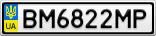 Номерной знак - BM6822MP