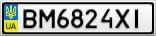 Номерной знак - BM6824XI