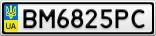 Номерной знак - BM6825PC