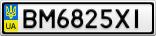 Номерной знак - BM6825XI