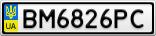 Номерной знак - BM6826PC