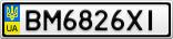Номерной знак - BM6826XI